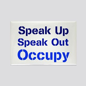 Speak Out (blue) Rectangle Magnet